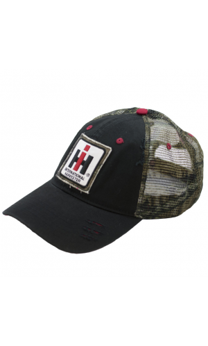 51473b9d5420c International Harvester Camo and Black Cap
