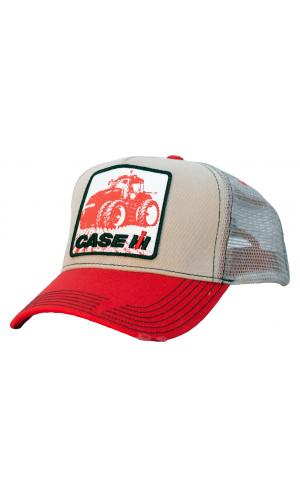 72d82b8359f32 Case IH Distressed Tractor Patch Mesh Trucker Cap