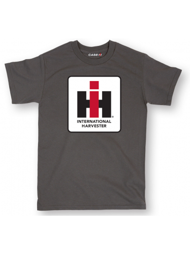 Men's IH Logo T-Shirt in Black, Charcoal And Red