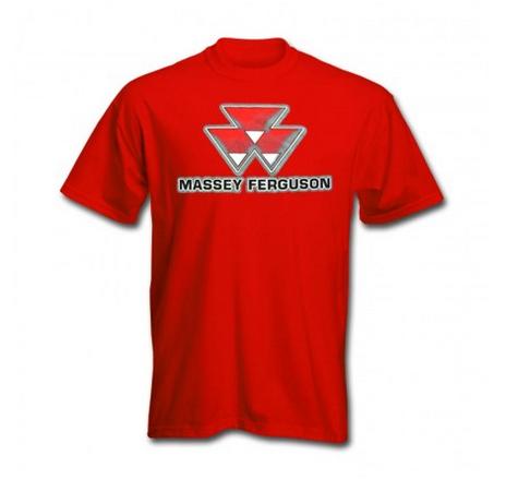 DAMAGED Massey Ferguson Shadow Logo T Shirt