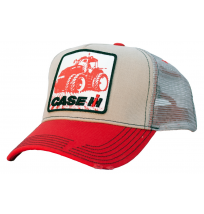 Case IH Distressed Tractor Patch Mesh Trucker Cap