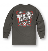 IH Proud To Be IH American Long Sleeve T-Shirt in Gray or Navy