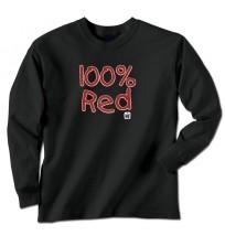 IH 100 Percent Red Long Sleeve T-Shirt