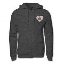 IH Glitter Heart Zip Up Sweatshirt