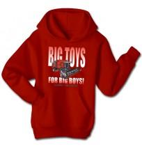 Massey Ferguson Men's Big Toys For Big Boys Hoodie