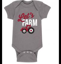 Case IH Let's Farm Onesie