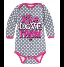 Case IH Live Love Farm Long Sleeve Onesie