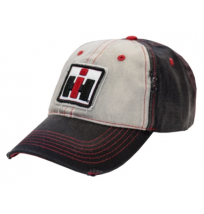 IH Distressed Black and White Logo Cap
