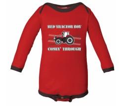 Case IH Tractor Boy Long Sleeve Onesie