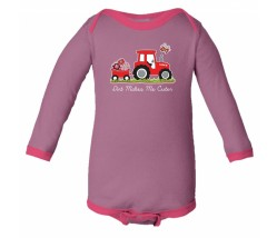Case IH Dirt Makes Me Cuter Long Sleeve Onesie
