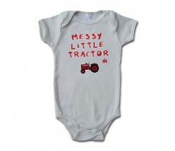 IH Farmall Messy Little Tractor Onesie