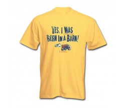 IH Farmall Yes I Was Born In A Barn T-Shirt