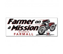 IH Farmall Farmer on a Mission Bumper Sticker