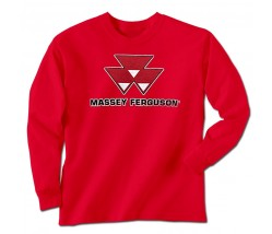Massey Ferguson Men's Worn Logo Long Sleeve T-Shirt