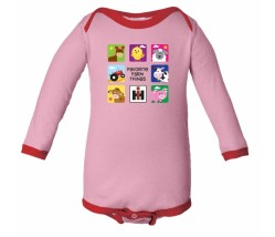 IH Animal Squares Long Sleeve Onesie