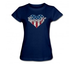 Case IH Patriotic Heart T-Shirt