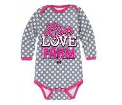 Case IH Live Love Farm Long Sleeve Onesie